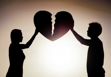 Difficult love and relationship concept