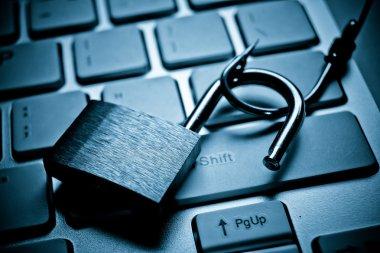 Computer data theft concept