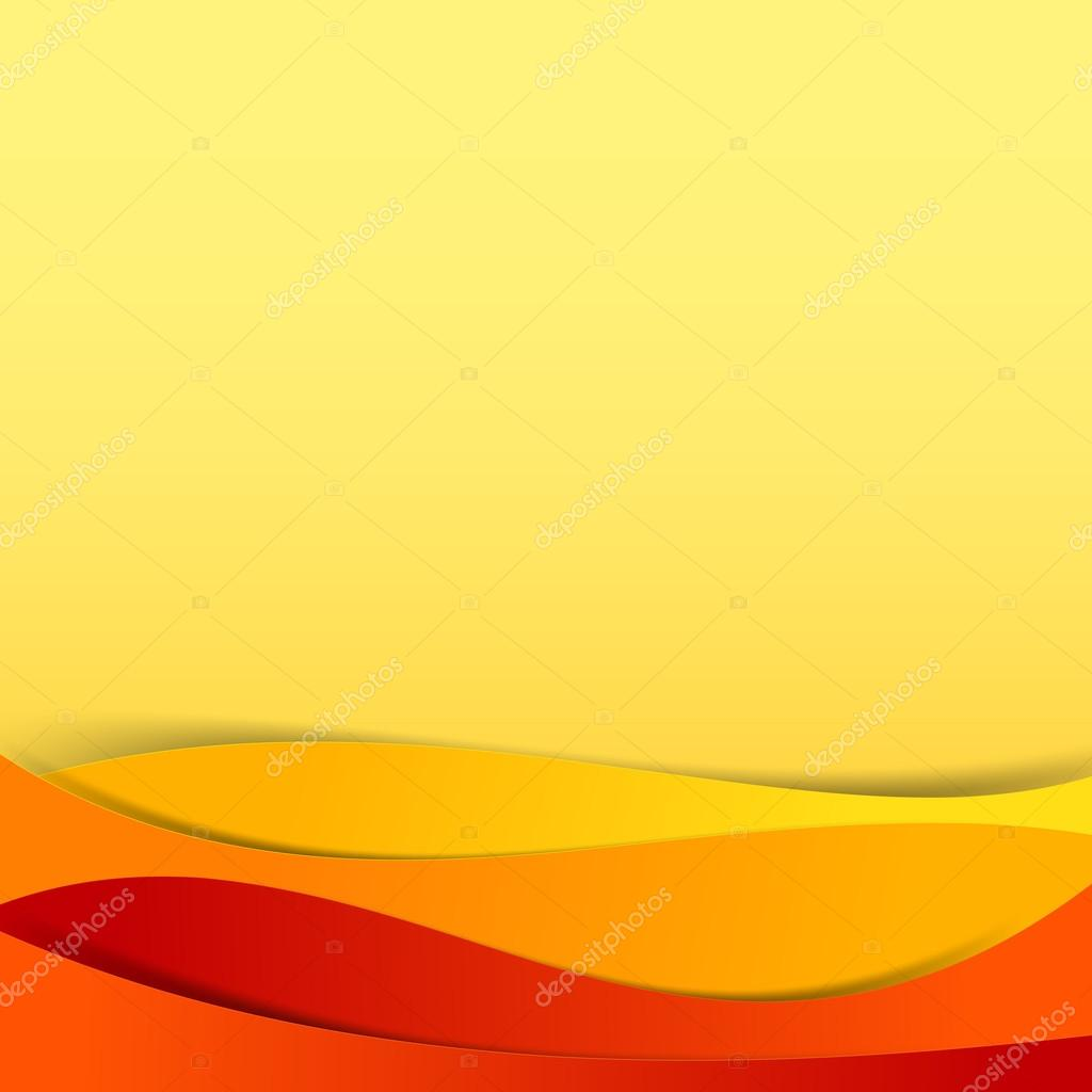 Abstract Vector Red Orange Yellow Background Overlap Layer