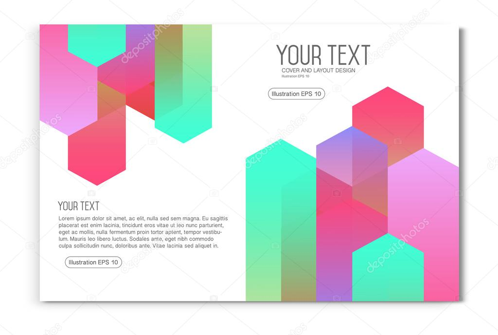 colourful business brochure flyer template booklet layout stock