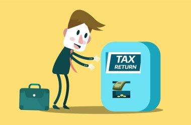 Tax return concept.