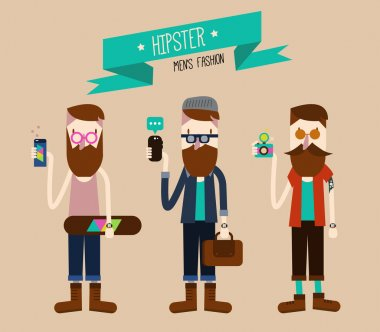 Hipster fashion style.