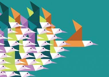 Geometric Group of birds.