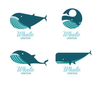 Whales icon set.