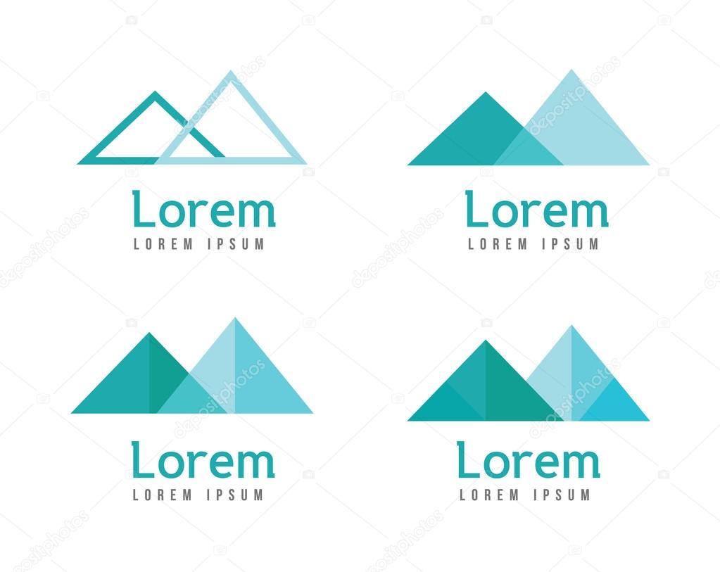 Abstract mountains logos.