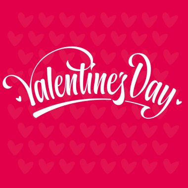Valenties day lettering