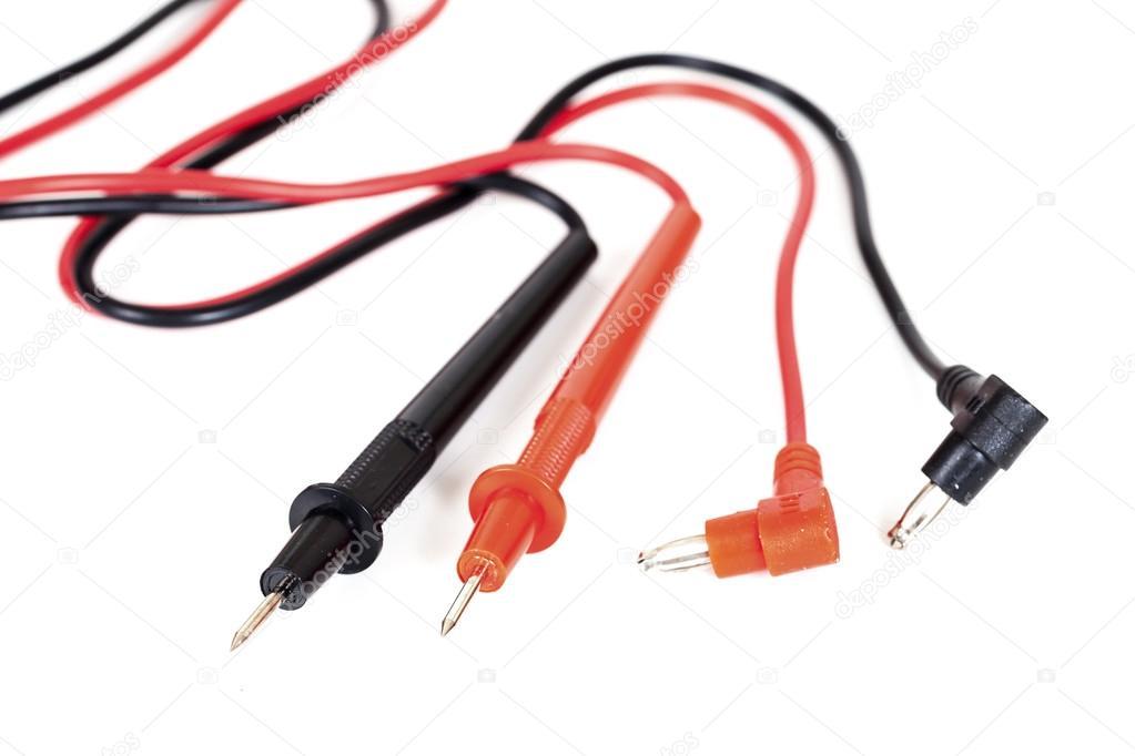 Analogen Voltmeter, roten und schwarzen Draht Maßnahme Strom ...