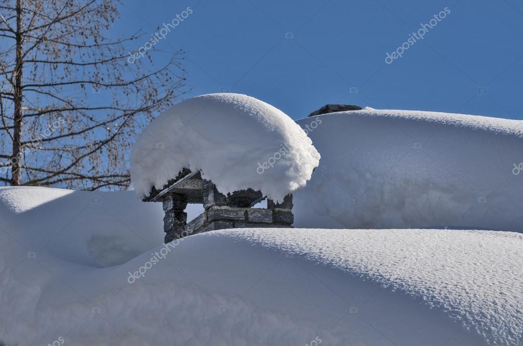 Flue under the snow