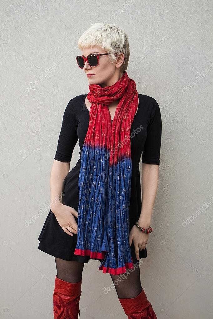 Red Scarf Dress