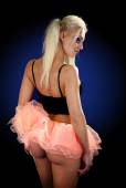 Photo young pretty blond woman in a helloween outfeet