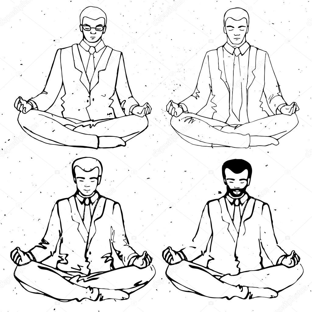 Meditation De L Homme D Affaires Silhouette D Homme D Affaires