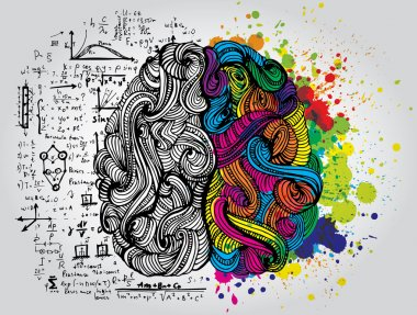 Creative concept of the human brain, vector illustration stock vector