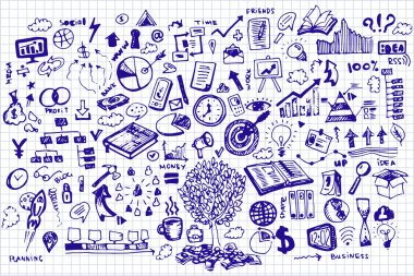 Business Doodles on sheet