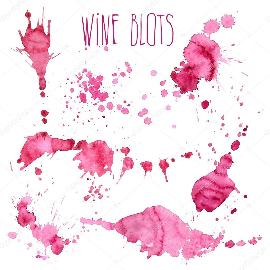 Salpicaduras y manchas de vino vector de stock - Manchas de vino ...