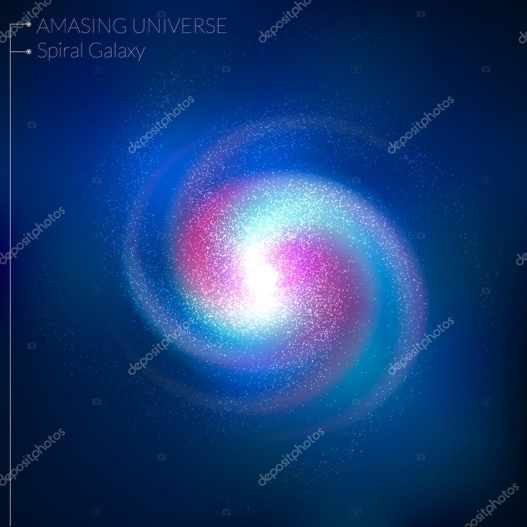 Spiral galaxy illustration