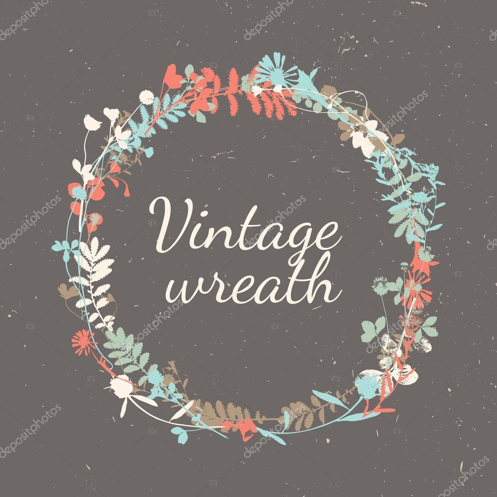 Floral Vintage Frame - wreath