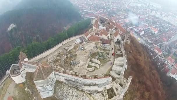 Rasnov Fortress aerial overfly