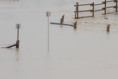 Flood Water Surrounding Sign