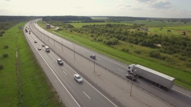 Az autópálya légi kilátása