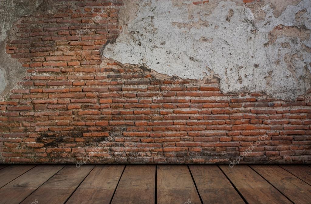 Ladrillo rojo con paredes de cemento y pisos de madera - Paredes de cemento ...