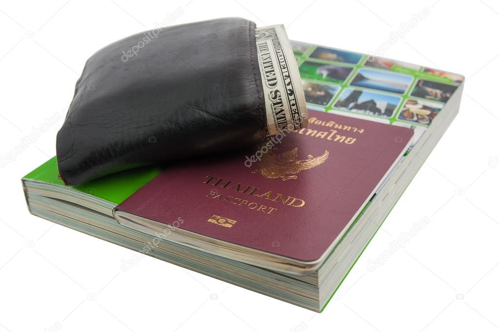 Paspoort Portemonnee.Paspoort Portemonnee En Gids Stockfoto C Sibadanpics 81263098