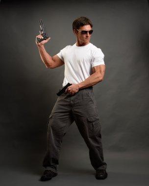 strong man as secret agent