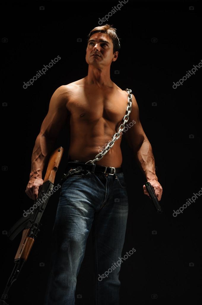 Sexy warrior man — Stock Photo © romancephotos #66657319