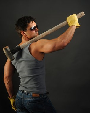 sexy construction man