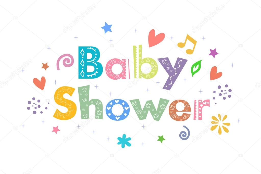 Baby Shower Message U2014 Stock Photo