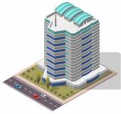 Photo Vector Isometric Office Workplace Building