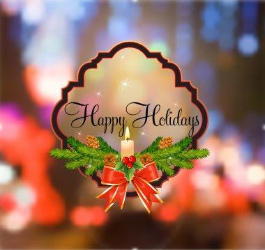 Happy Holidays Decorative Cartouche