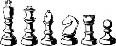 Complete set of chess pieces