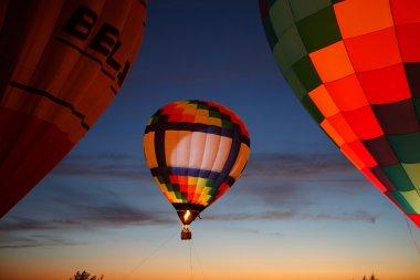 Hot air balloons festival in Pereslavl-Zalessky, Yaroslavl Oblast. Night flying in 16 july 2016.