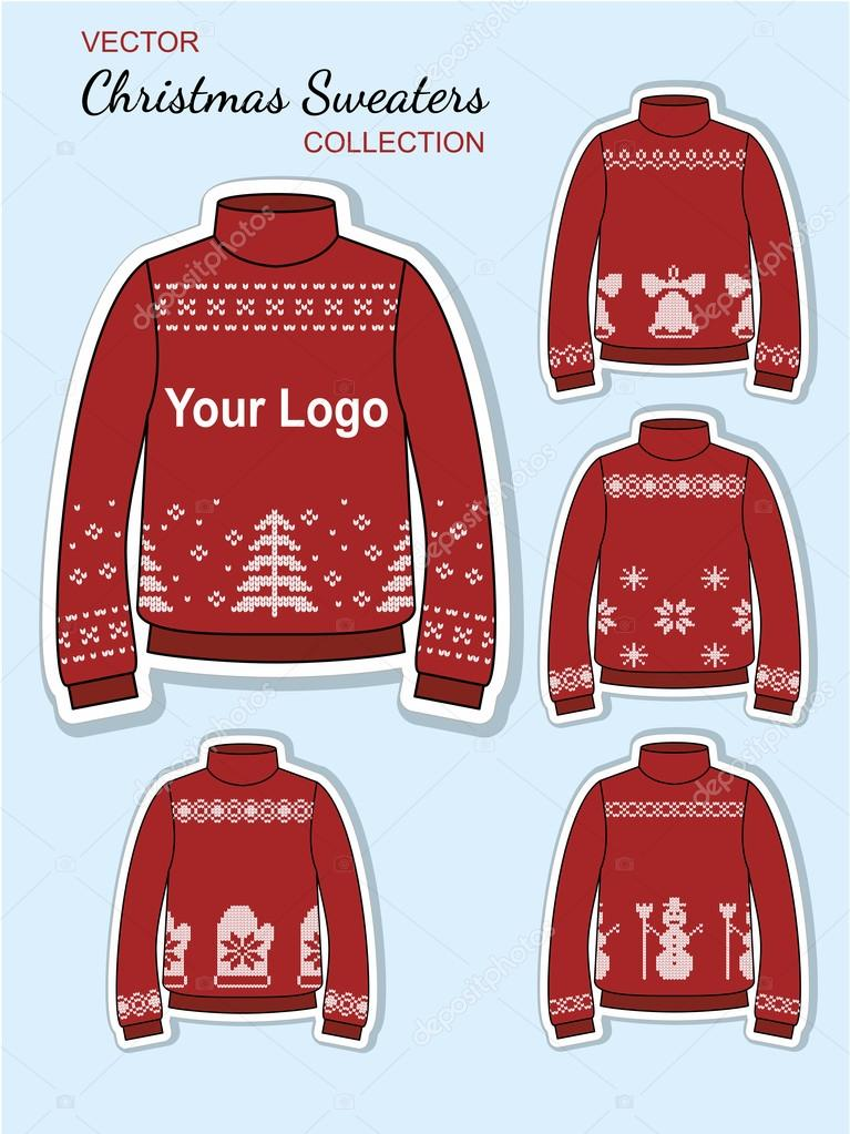 Christmas Jersey Design.Christmas Design Jersey Sweaters Stock Vector