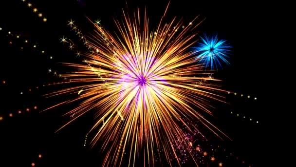 Fireworks animation . 4K Resolution (Ultra HD).