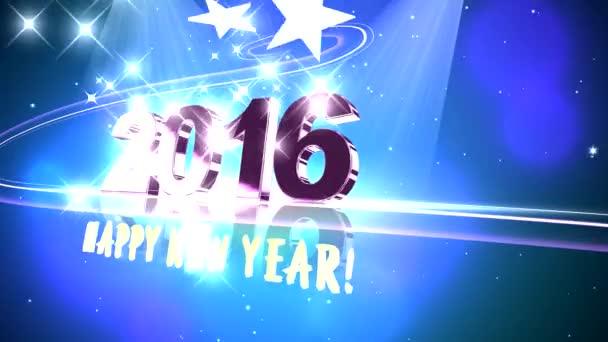 Vysoce kvalitní 2016 nový rok animace. 4k