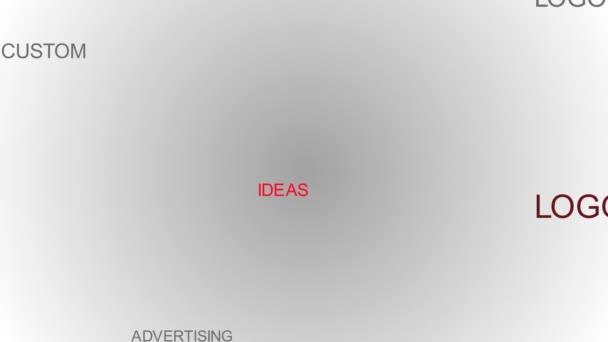 Značka slovo mrak animace. 4 k rozlišení
