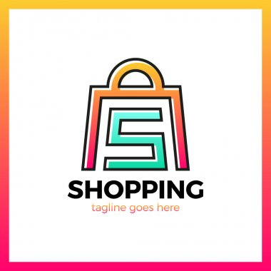 Shop Bag Logo - Letter S