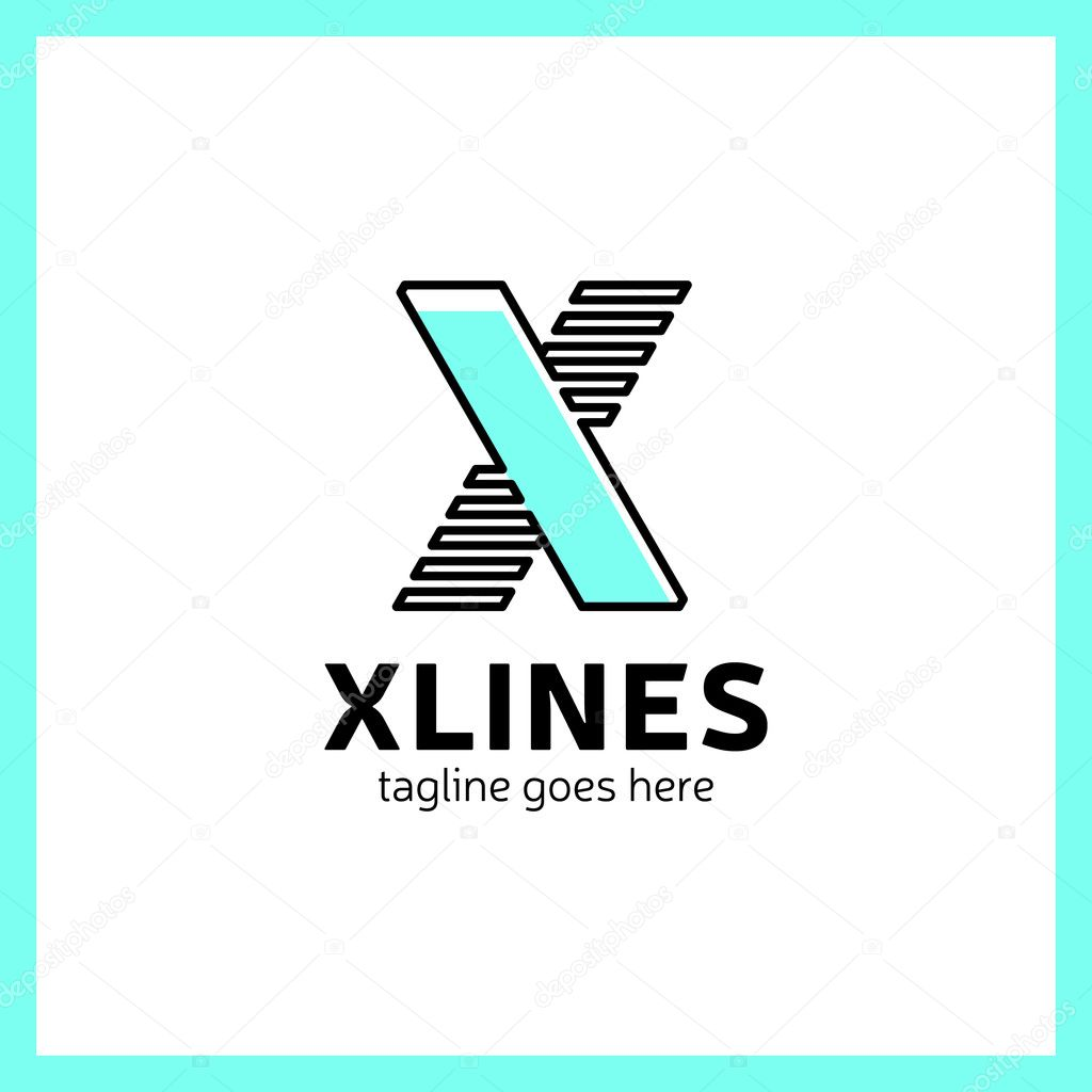 Abstrakte Brief Sport X Logo-Design-Vorlage, schnelle ...