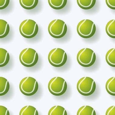 Tennis ball seamless pettern vector illustration. realistic tennis ball seamless pattern design icon