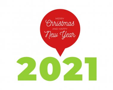 2021 new year. Happy new year Message Bubble. 2021 new year. Happy new year design. Colorful holiday background for calendar or web banner. 2021 celebration. Light 2021. icon