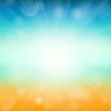 Summer time background - illustration. Vector illustration of a glowing Summer time background.