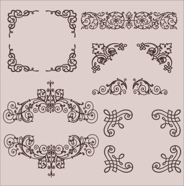Frames. Decorative elements. Vector set