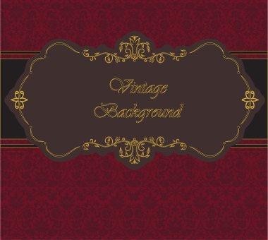 Invitation card. Vintage. Background. Vector.