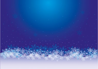 Christmas snowflakes background for design