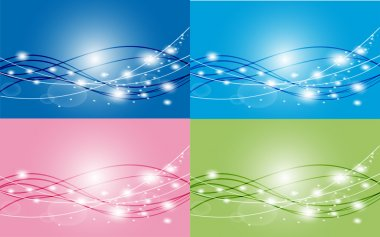Set of colorful beautiful abstract Background Vector