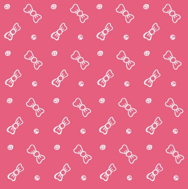 Baby background bows pink seamless