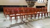 Židle uvnitř v cathearal v uppsal, Švédsko