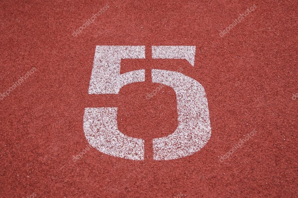 number five on the start of a running track check my portfolio
