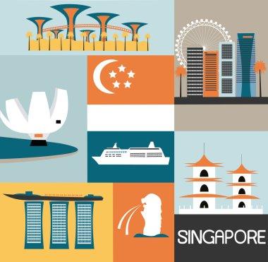Symbols of Singapore city